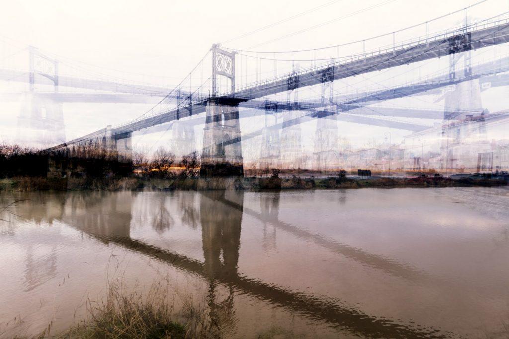 Œuvre photographique de Laurent Dequick le pont de tonnay charente