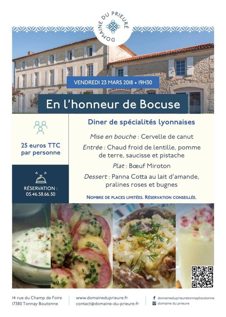 Soirée gastronomique lyonnaise en l'honneur de Bocuse